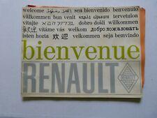 CATALOGUE AUTOMOBILE : bienvenue RENAULT vers 1967 ( les usines )