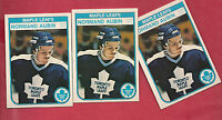 3 X 1982-83 OPC # 316 LEAFS NORMAND AUBIN   ROOKIE  CARD