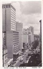 BRAZIL - Sao Paulo - Avenida Ipiranga - Photo Postcard 1952