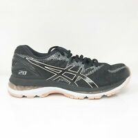 Asics Womens Gel Nimbus 20 T850N Black Running Shoes Lace Up Low Top Size 8.5