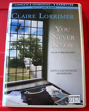 Claire Lorrimer You Never Know 8-Tape UNAB.Audio Bk June Barrie Author Biography