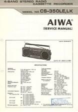 AIWA CS-350 CS 350 - BOOMBOX - SERVICE MANUAL IN COLOR VERSION -