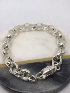 """5mm Solid Belcher Link Bracelet 8.5"""" - 925 Sterling Silver"""