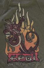 KPOI 97.5 Crazy Shirts Hawaii ShortSleeve T-Shirt L Hemp Dyed Large 98Rock Radio