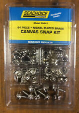 64 Piece SeaChoice Boat Marine Canvas Cover Fabric Fastener Snap Snaps KIT 59441
