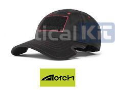 Échancrure classique réglable athlète noir/rouge baseball sports cap livraison gratuite au royaume-uni