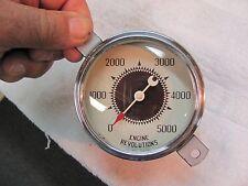 Vintage Stewart Warner 2 7/8 Auburn Crescent Pointer curved glass 5K Tachometer