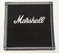 Marshall Amplifiers~Patch~Embroidered Applique~3 1/2 x 3 1/2~Iron Sew~Ships FREE