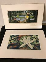 """Vintage Watercolors Signed By Emma Lou Martin 16""""x10"""",15""""X11""""See12pix.MAKE OFFER"""