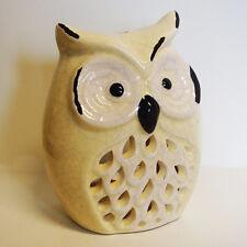 Windlicht Eule weiß Keramik vintage / shabby Landhaus Deko