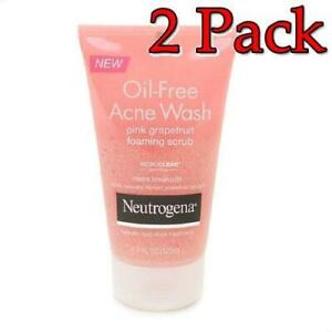 Neutrogena Foaming Scrub, Pink Grapefruit, 4.2oz, 2 Pack