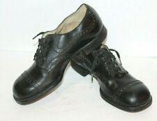 Original vintage 1940's Girls Misses black oxford leather shoes Size 2