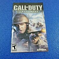 CALL OF DUTY: FINEST HOUR 2004 SONY PLAYSTATION 2 WORLD WAR II (NTSC-U/C) PS2