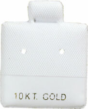 """100 White  10k  Cards  Jewelry Puff Earring Pad Display 1"""" X 1"""""""