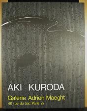 Plakat Originell Aki Kuroda Galerie Adrien Maeght c1980 66 CM Ausstellung