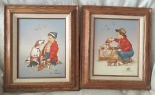 SET OF TWO OIL PAINTINGS SIGNED C. CARSON, 1985, Framed, Very Nice