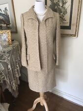 Vtg 50's Adele Simpson boucle 3 pc suit outfit dress couture Stunning Jackie O