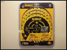 DeWALT DT10399 Lama per sega circolare 190/30 pacco 3-pz. DT10304 DT10399 (f).