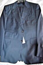 $6k NWT TOM FORD 44 eu52 S Navy Blue 3 piece Windsor Peak WOOL suit Switzerland