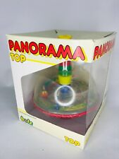 Vintage Bolz Panorama Spinning Top Railroad Train in Box Made in West Germany