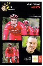 CYCLISME carte cycliste CHRISTOPHE KERN équipe COFIDIS 2009
