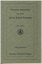 1931 Bell Telephone Operating Instructions Private Branch Exchange Model 500C