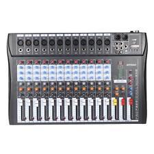 12 Channels Mic Line Audio Mixer Mixing Console USB XLR Input 3-band EQ X1J9