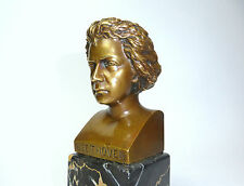 Bronzo Busto Beethoven a 1900 monogrammato B-12369