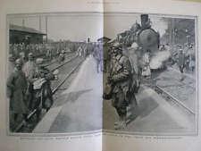 WW1 Soldats français en congé L solarisation 1916