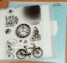CTMH C1439 ENJOY LIFE ~ BIKES, Sit Back & Enjoy the Ride,WATCH