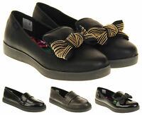 Ladies Rocket Dog Synthetic Wedge Heel Loafer Shoes Size 3 4 5 6 7 8