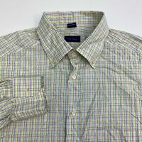 Jeff Rose Button Up Shirt Men's Size XL Long Sleeve Multicolor Gingham Casual