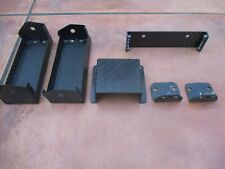 Indy Race Car Carbon Fiber Electronics Component Mounting Tray Brackets Box Tabs
