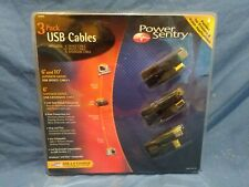 3 Power Sentry USB Cables 6' 10' Extension 24k NEW!