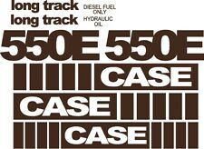 Reproduction CASE dozer crawler 550E Long Track decal kit