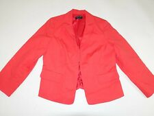 Jones New York Women's Blazer Jacket Size 16W Red Cotton Suit Coat Lined 16 JNY
