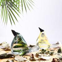 Crystal Blown Bird Handmade Paperweight Art Glass Animal Figurine Ornament Decor