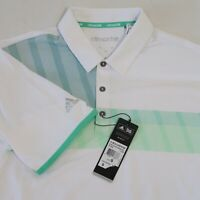 Adidas Men's Climachill White Short Sleeve Golf Polo Shirt Size Small - NWT