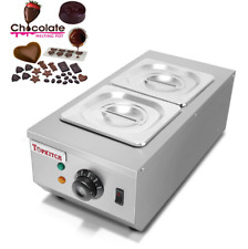 2-Tanks Chocolate Melting Machine Electric Water Heating Chocolate Melter   Y