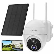 Außen 1080P Überwachungskamera WIFI PIR 2-Wege Audio Nachtsicht mit Solarpanel