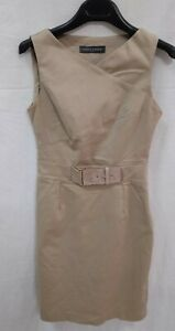 Sandro Ferrone roma abito vestito dress jacket giacca tg 40 s donna woman beige
