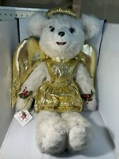 """The House That Tilly Built Collectible Gold Angel Teddy Bear 27"""""""