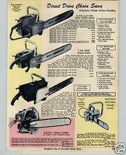 1970 PAPER AD Clinton Bobcat Super Root Lumberjack Gas Chain Saw 6 7 10 HP