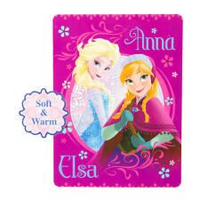 """Disney Princess Frozen Elsa & Anna Plush Throw Blanket 46""""x 60"""" Pink NWT"""