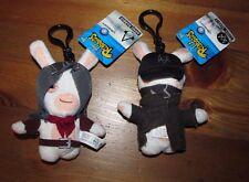 2 Rabbids Lot Arno Assassins Creed Aiden Watch Dogs Ubisoft Mini Plush Clip On