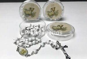12-First Communion Favors Rosaries Scented White Party Recuerdos de  Rosario