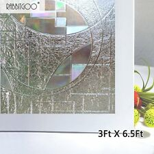 No-Glue 3D Privacy Frosted Static Cling Window Grass Film Superior 90 X 200cm