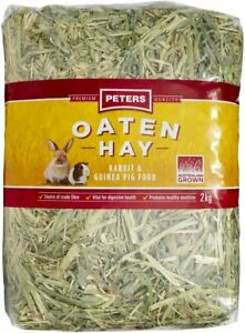 2x Peters Oaten Hay 2kg   Total 4kg   FREE SHIPPING   NEW AU STOCK