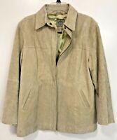 AMI Coat Tan Leather Suede Jacket Winter Tan Travel Rain Size L Hard_8s_Magic