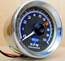 Sun/Chrysler Parts Early-Rare Tach, 10K RPM, Blue Face, w/Chrome Cup,
